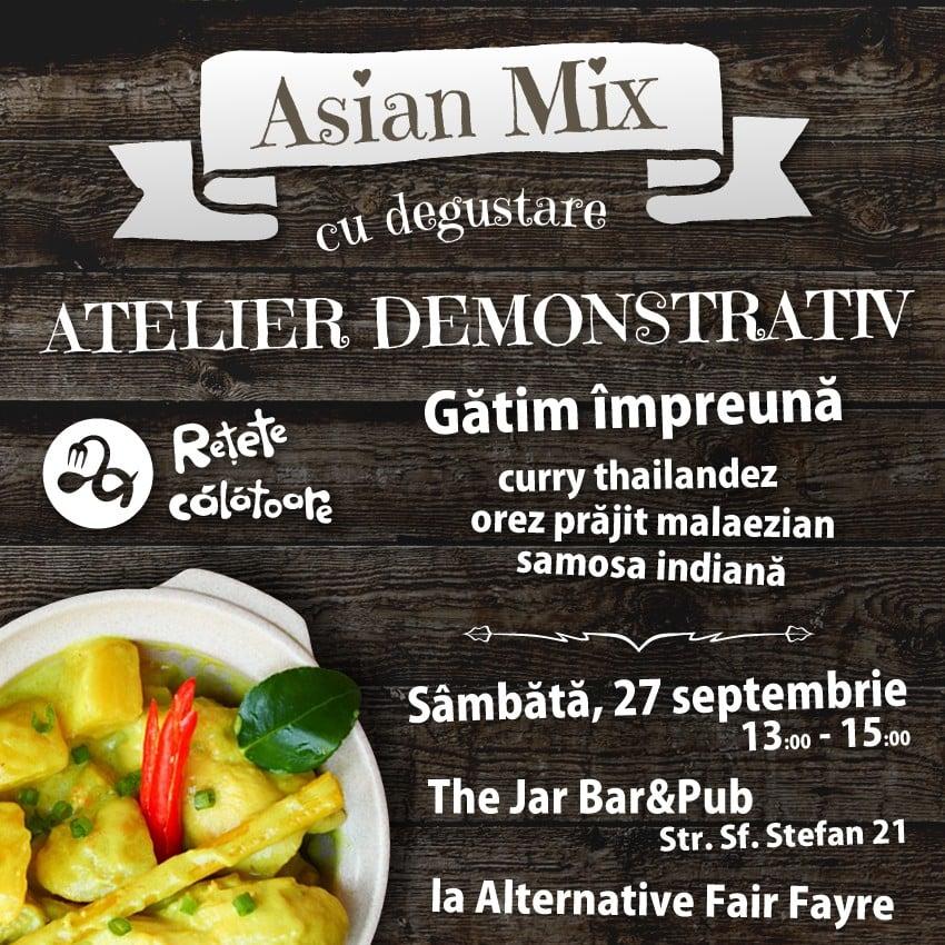 Retete calatoare Afis Asian Mix