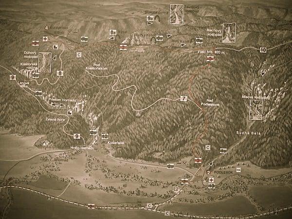 Trasee de munte, camping Podlesok