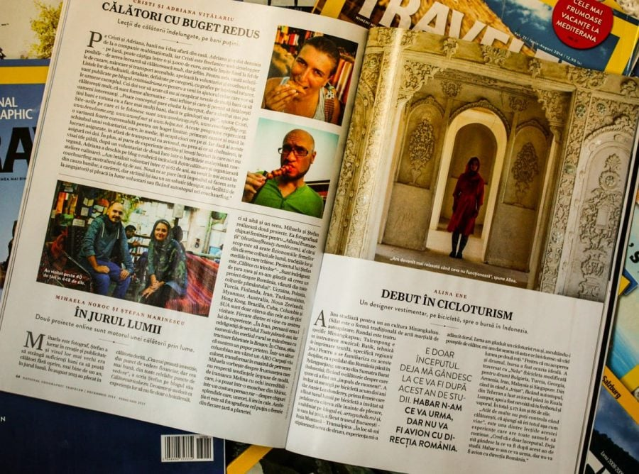 Articol Cristi și Adriana în National Geographic