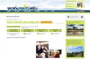Screenshot exemplu profil workaway
