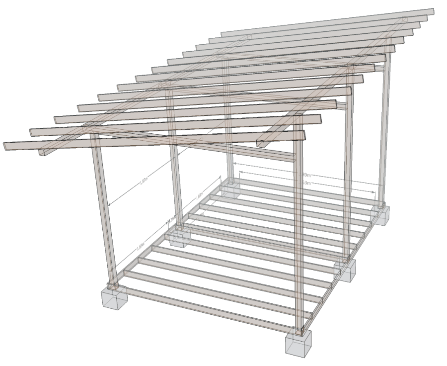 Model foisor in sketchup