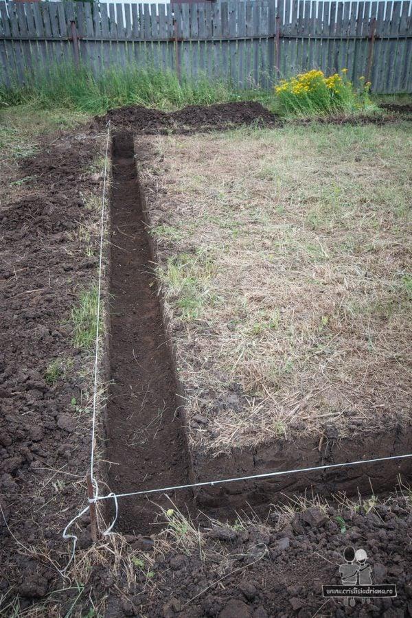 Trasat sfoara pentru sapat fundatie casa