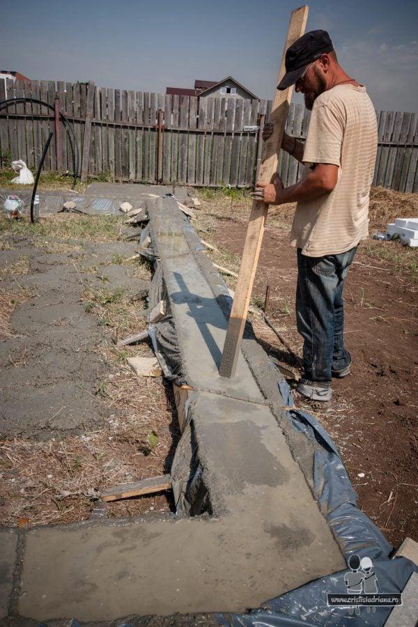 Vibrare beton fundatie