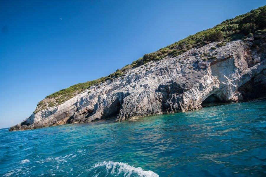 În drum spre Blue Caves, Zakynthos