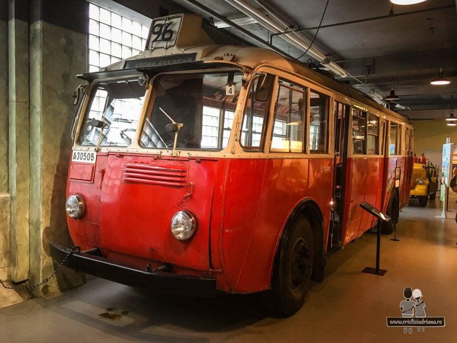 Autobuz în Muzeul Transportului, Stockholm