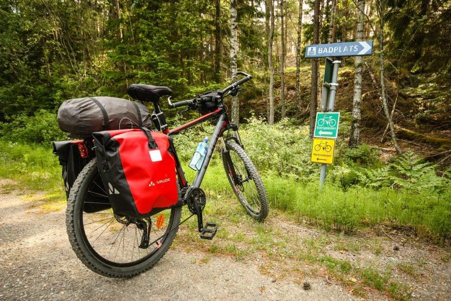 Popas pentru biciclete și scăldat