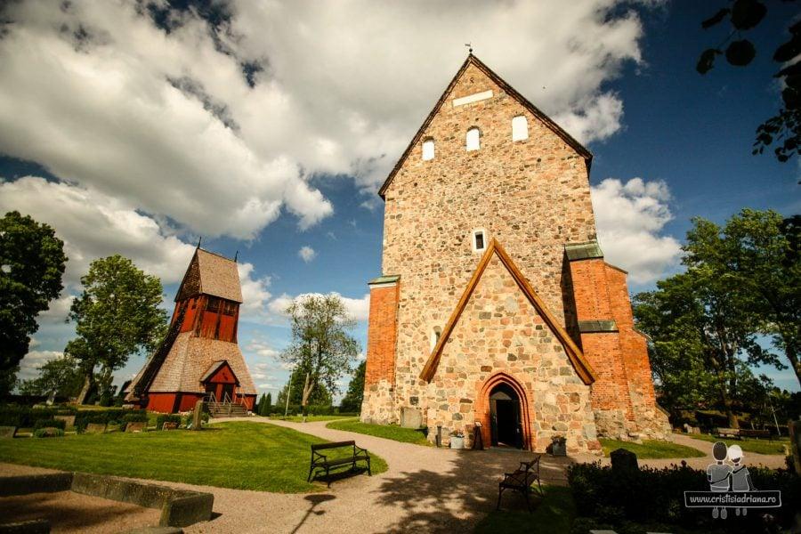 Biserica din Uppsala veche. Ridicată pe vechi loc de sacrificiu păgân