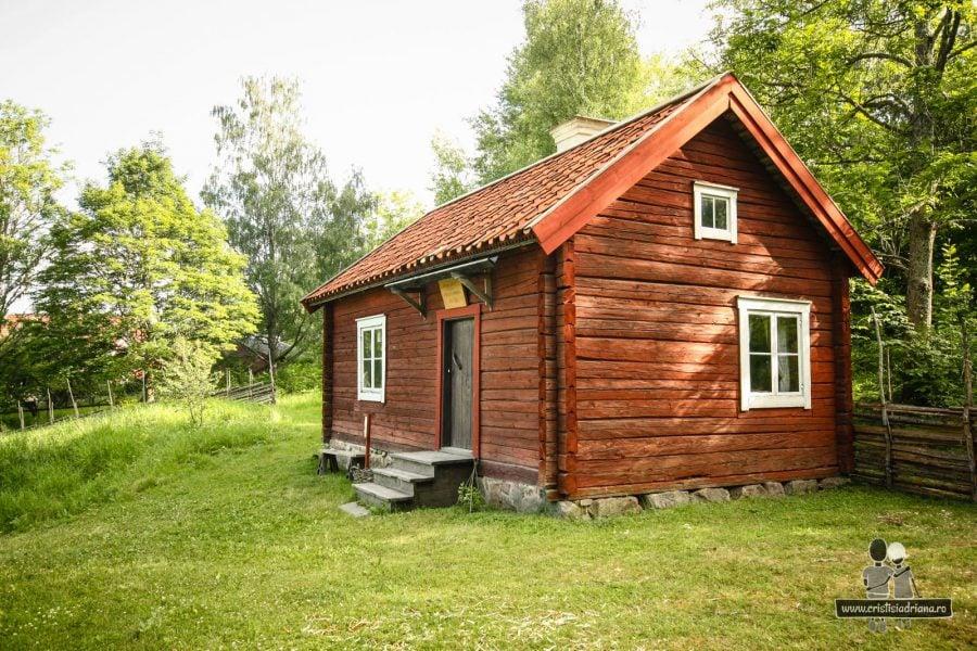 Casă veche de lemn Uppsala, Suedia