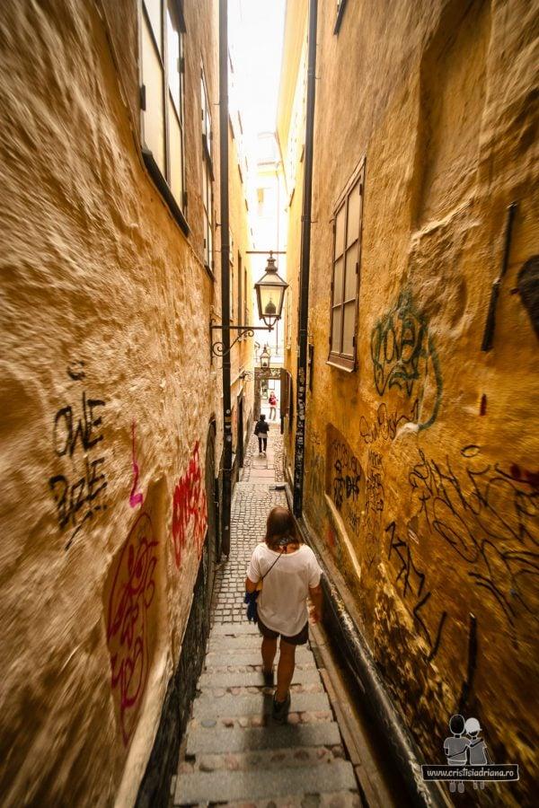 Cea mai îngustă stradă din Stockholm