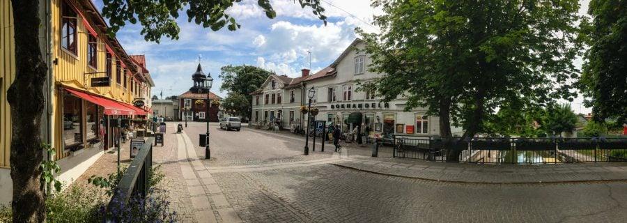 Centrul orașului Trosa, Suedia