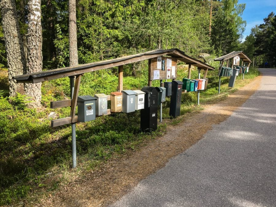 Cutii poștale în Suedia