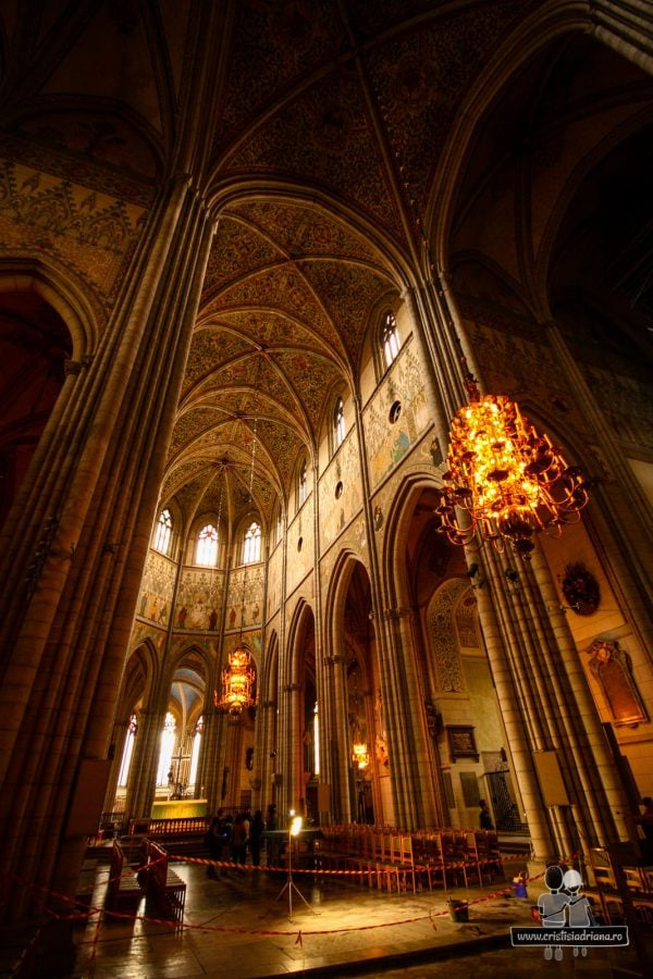 Interiorul catedralei, probabil decorată tot de faimosul Albertus Pictor