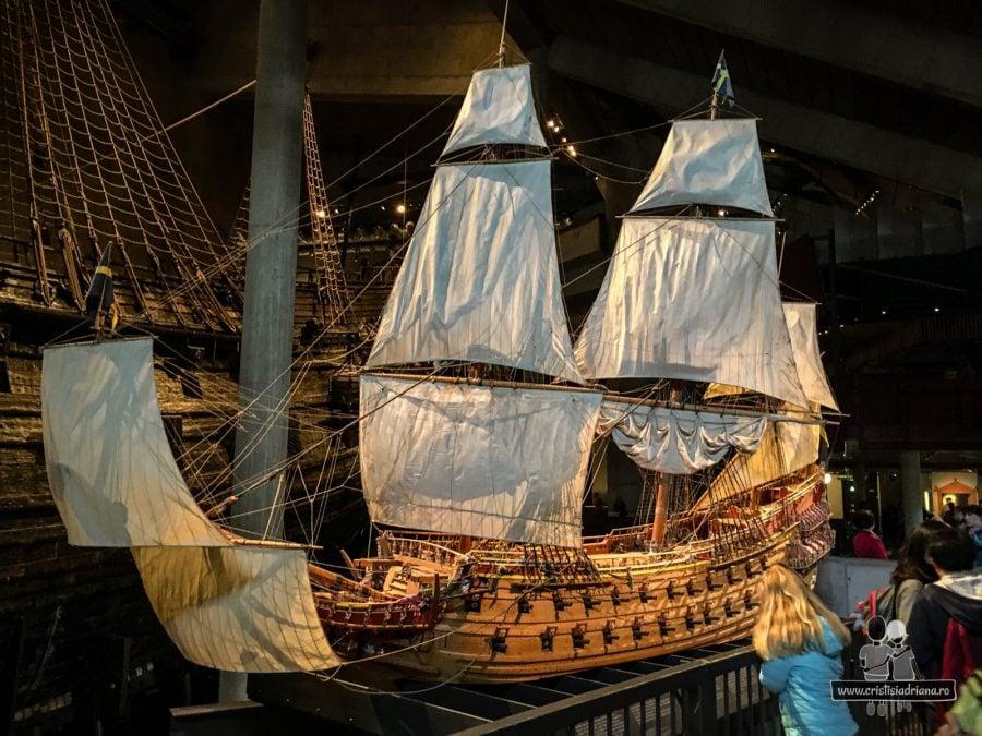 Machetă corabia Vasa, Stockholm