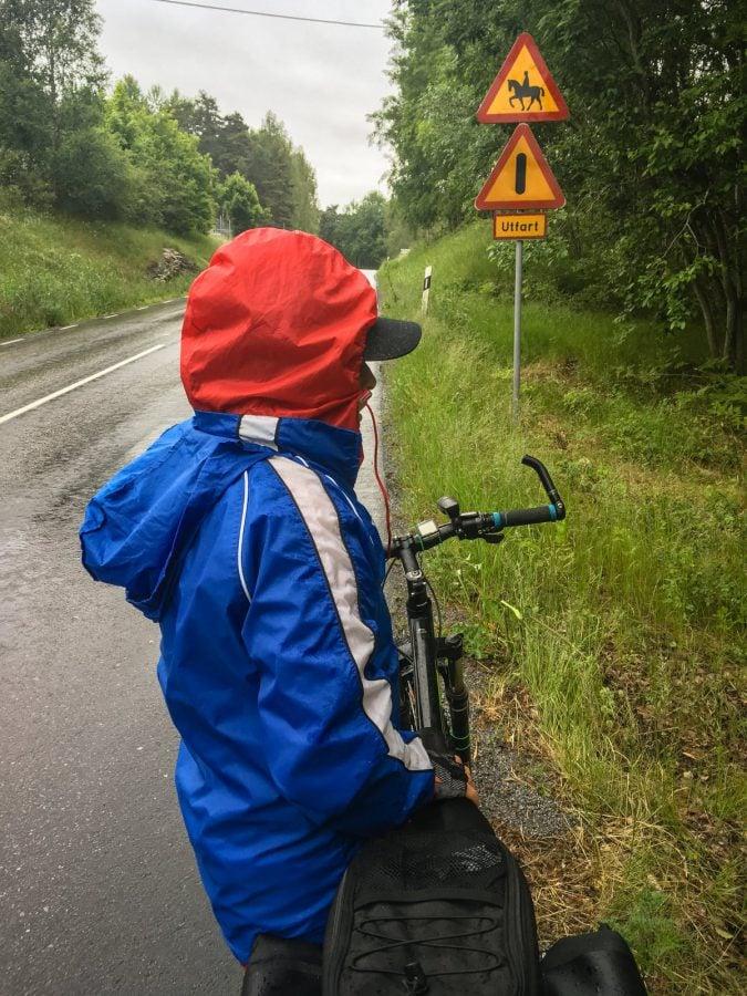 Pelerină de ploaie pe bicicletă