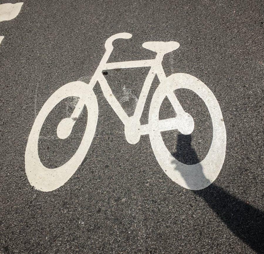 Semnalizare pentru pistă de biciclete, Suedia