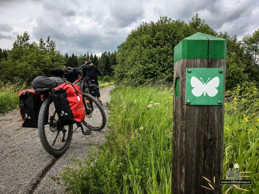 Traseu cu fluturi, pentru biciclete