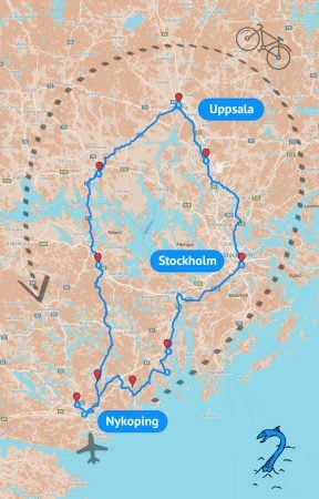 Traseu Suedia cu bicicletele