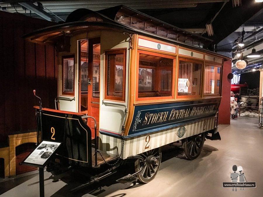 Vagon de lux în Muzeul Transportului, Stockholm