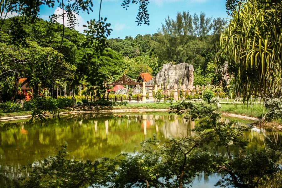 Iaz verde, Lagenda Park, Langkawi