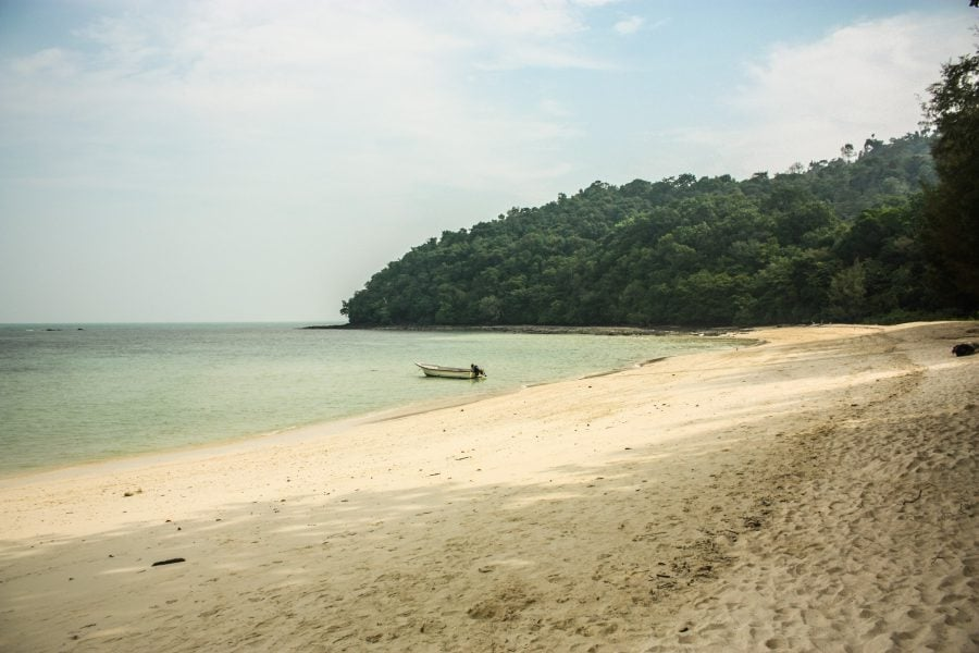 Plajă pe insula Beras Basah, Langkawi