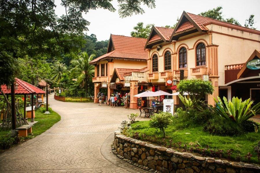 Zona centrală din Oriental Village, Langkawi