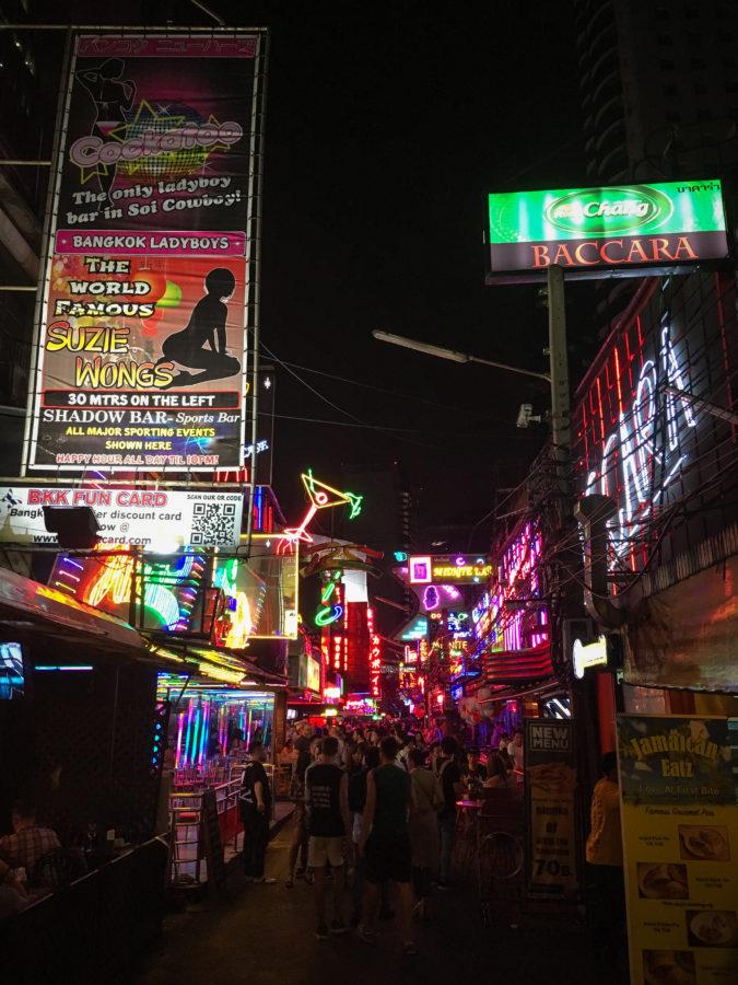 Bangkok street at night