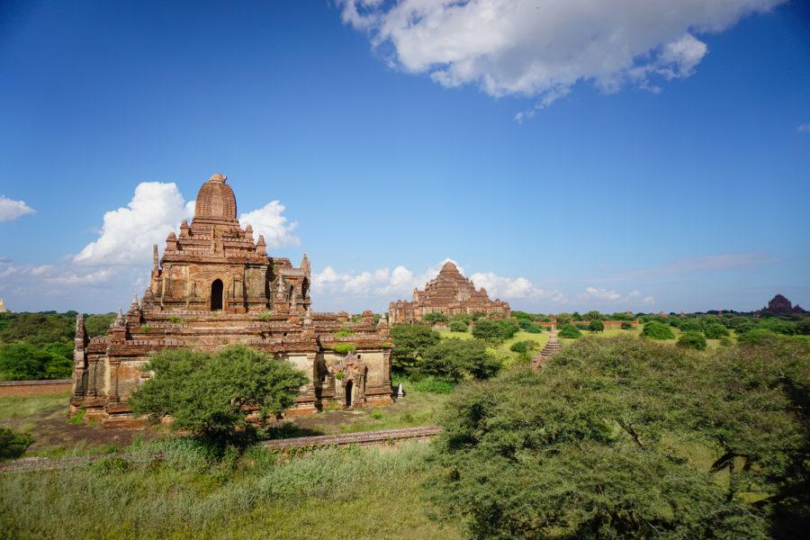 Orange temple in Bagan, Myanmar
