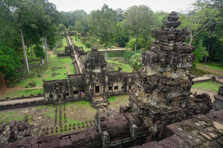 Panoramic view, temple in Cambodia