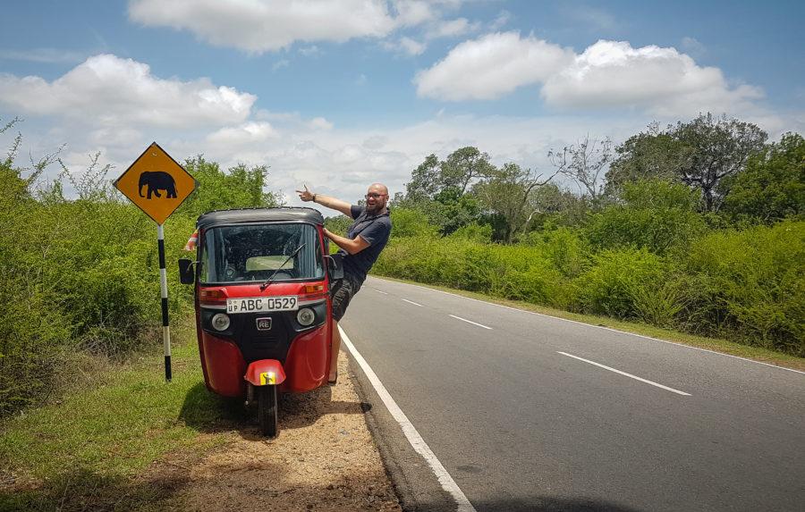 Rented tuktuk in Sri Lanka