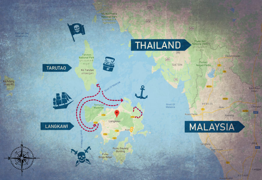 Andaman sea boat route