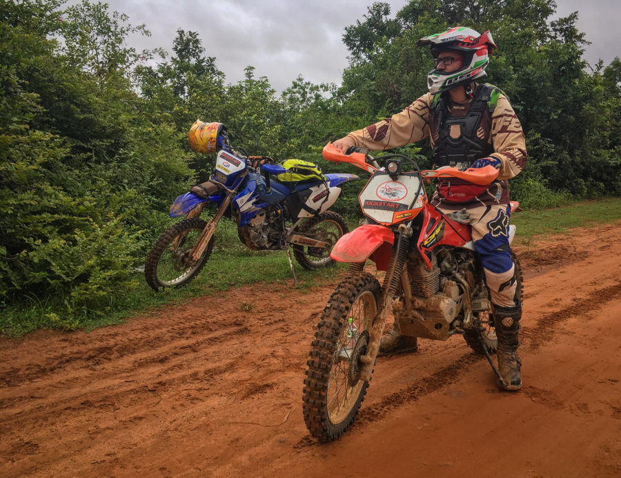 Cambodia offroad tour on a Honda CRF230F