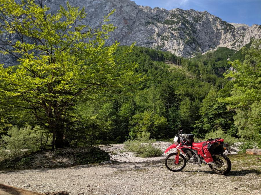 CRF250L at Logarsca dolina, Slovenia