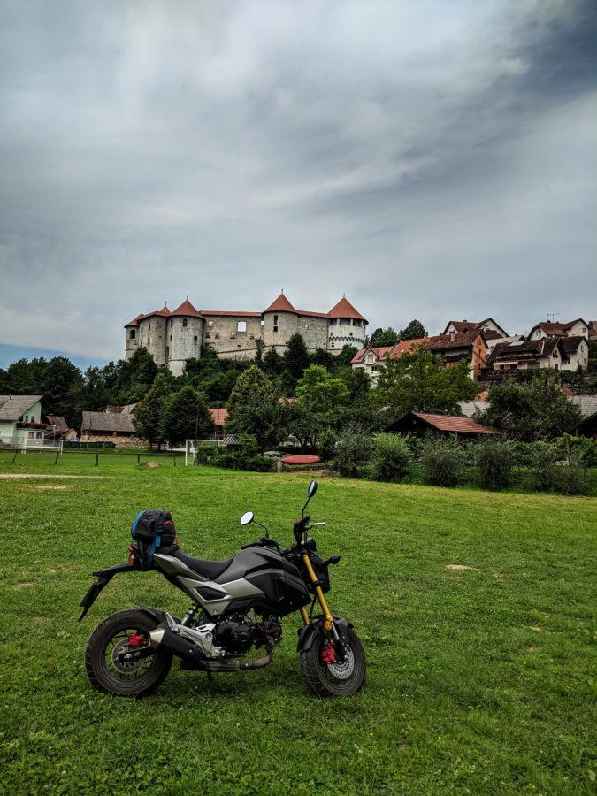Honda Grom at Zuzember castle, Slovenia