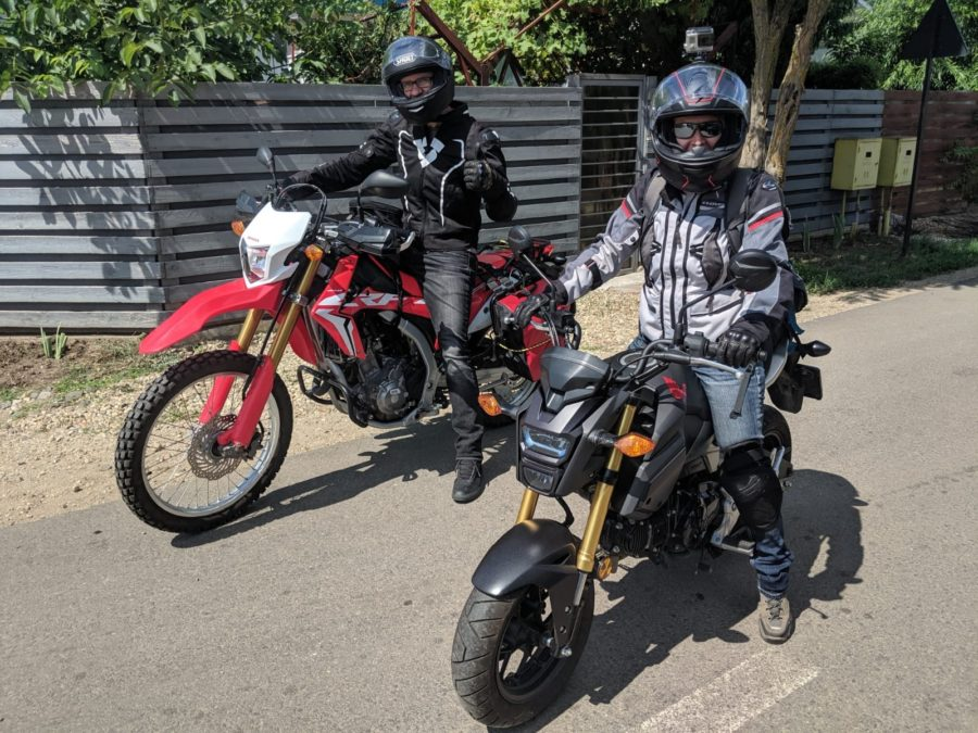 Kitty and Ada on the CRF250L and Grom MSX125