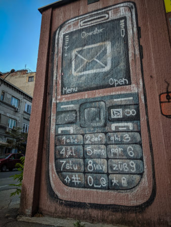Phone graffiti in Serbia