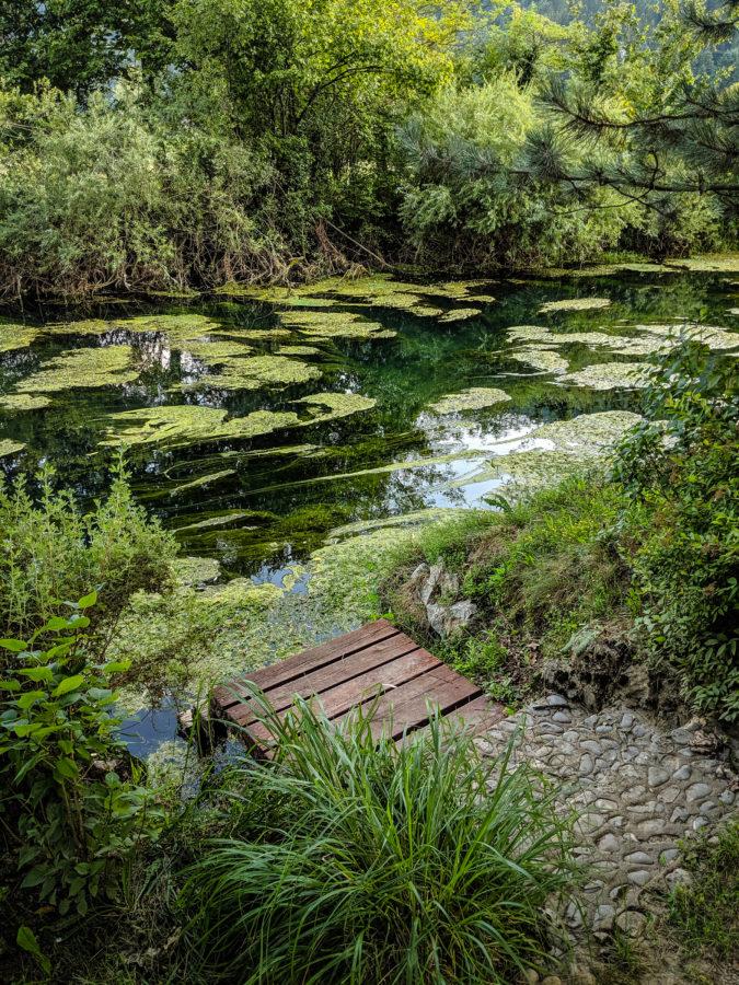 Radescica river in Dolenjske Toplice, Slovenia