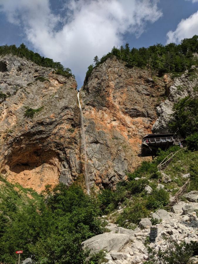 Rinka waterfall, Logarska dolina, Slovenia