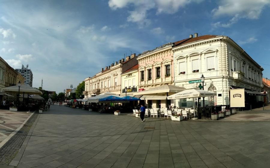 Slavonski Brod town centre, Croatia