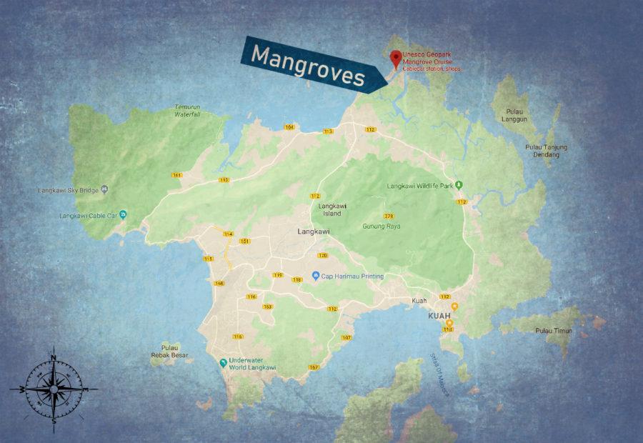 Langkawi mangroves map